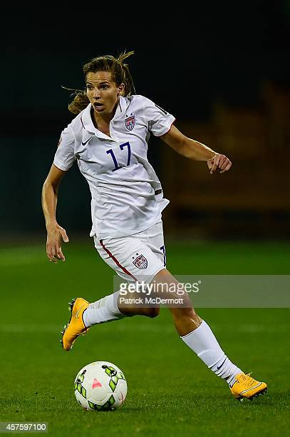 Tobin Heath of the United States controls the ball against Haiti in the first half of a game during the 2014 CONCACAF Women's Championship at RFK...