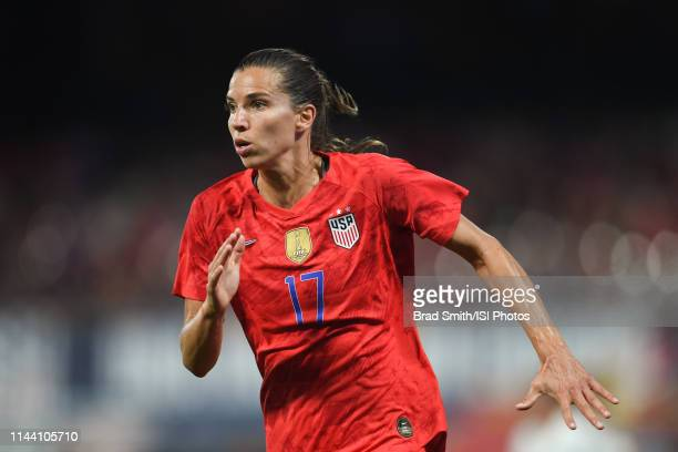Tobin Heath of the United States during an international friendly between the women's national teams of the United States and New Zealand on May 16...
