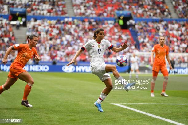 Tobin Heath of the United States during the 2019 FIFA Women's World Cup France final match between the Netherlands and the United States at Stade de...
