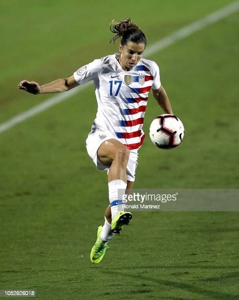 Tobin Heath of the United States during the CONCACAF Women's Championship final match at Toyota Stadium on October 17 2018 in Frisco Texas