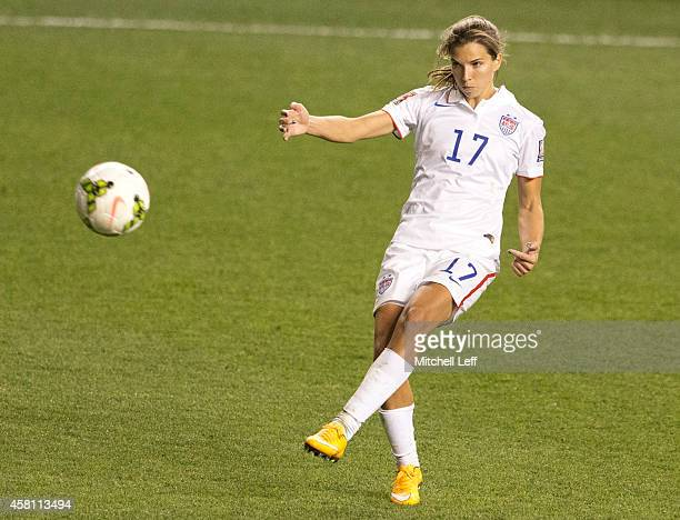 Tobin Heath of the United States plays in the game against Mexico in the 2014 CONCACAF Women's Championship semifinal game on October 24 2014 at PPL...