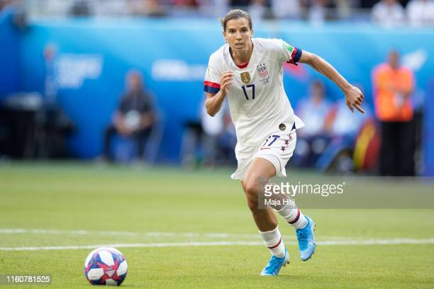 Tobin Heath of the USA controls the ball during the 2019 FIFA Women's World Cup France Final match between The United State of America and The...
