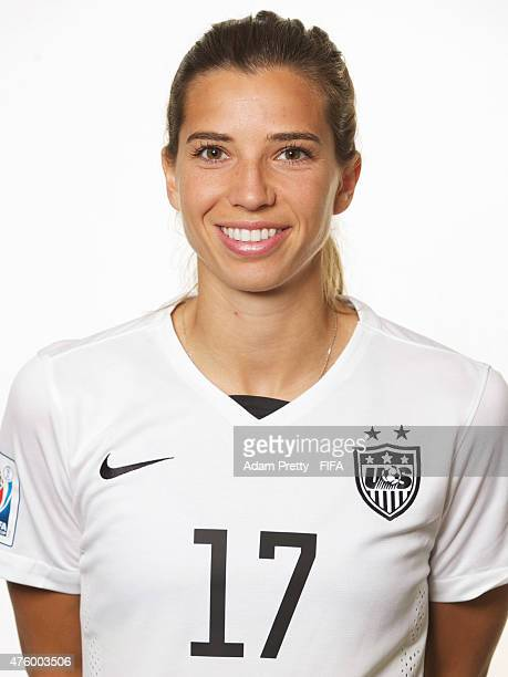 Tobin Heath of the USA poses for a portrait at the Delta Hotel on June 5 2015 in Winnipeg Canada