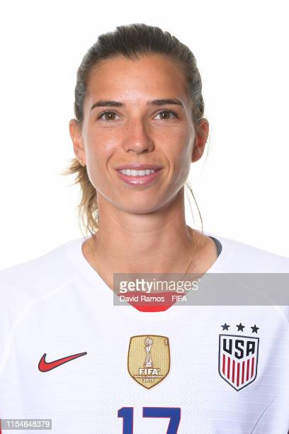 Tobin Heath of the USA poses for a portrait during the official FIFA Women's World Cup 2019 portrait session at Best Western Premier Hotel de la Paix...