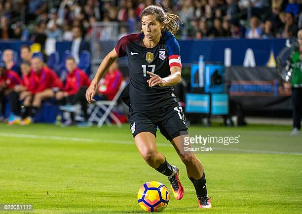 Tobin Heath of United States during United States international friendly match against Romania at the StubHub Center on November 13 2016 in Carson...