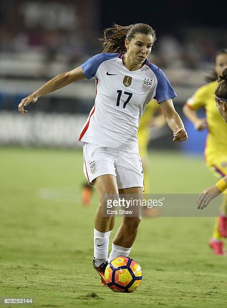 Tobin Heath of United States of America in action against Romania at Avaya Stadium on November 10 2016 in San Jose California