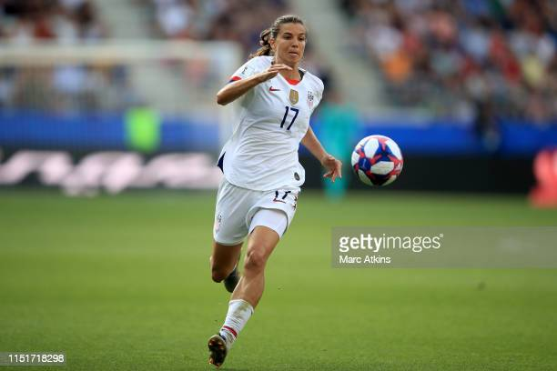 Tobin Heath of USA during the 2019 FIFA Women's World Cup France Round Of 16 match between Spain and USA at Stade Auguste Delaune on June 24 2019 in...