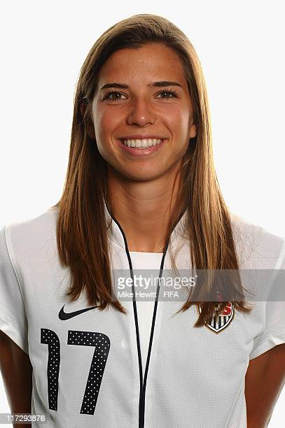 Tobin Heath of USA during the FIFA portrait session on June 25 2011 in Dresden Germany