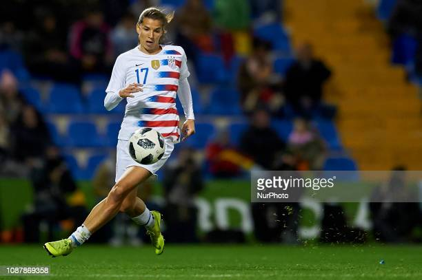 Tobin Heath of USA during the friendly match between Spain and USA at Rico Perez Stadium in Alicante Spain on January 22 2019