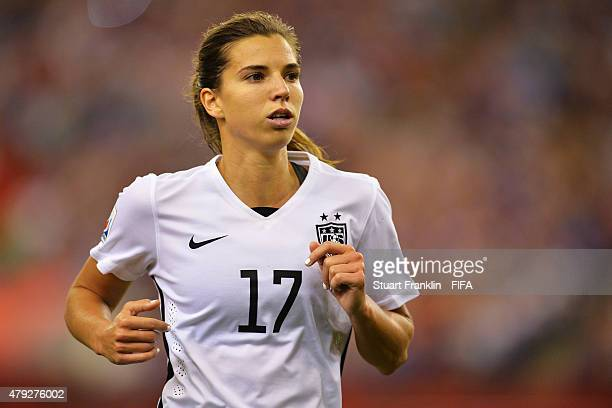 Tobin Heath of USA in actionduring the FIFA Women's World Cup Semi Final match between USA and Germany at Olympic Stadium on June 30 2015 in Montreal...