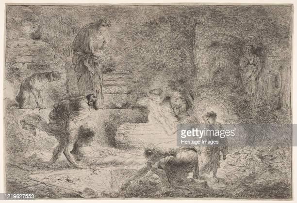 Tobit burying the dead circa 164751 Artist Giovanni Benedetto Castiglione