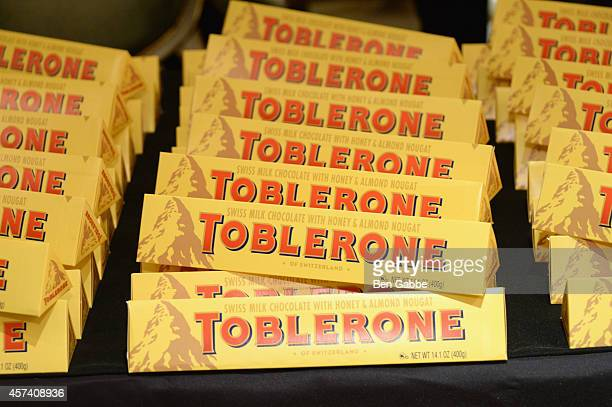Toblerone on display at A Tour De France hosted by Dominique Crenn and Michel Richard as a part of the Bank of America Dinner Series during the Food...