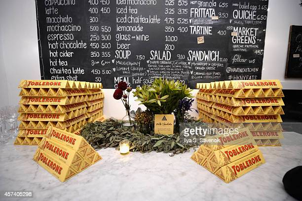 Toblerone on display at East Meets West Dinner hosted by Ann Redding and Matt Danzer Andy Ricker Ivan Orkin and Tadashi Ono as a part of the Bank of...