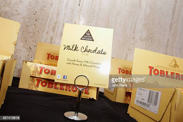 Toblerone on display at Evolution Of Mexican Cuisine hosted by Enrique Olvera as a part of the Bank of America Dinner Series during the Food Network...