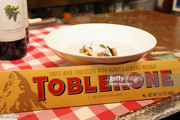 Toblerone on display at The Gypsy Chef Dinner hosted by David Myers as a part of the Bank of America Dinner Series during the Food Network New York...