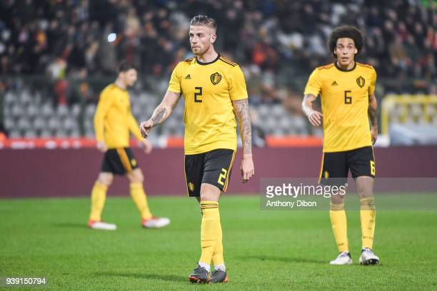 Toby Alderweireld and Alex Witsel of Belgium during the International friendly match between Belgium and Saudi Arabia on March 27 2018 in Brussel...