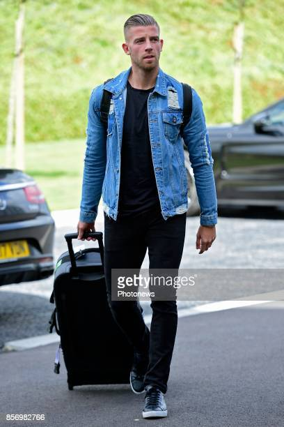 Toby Alderweireld defender of Belgium arrives at the Martin's Red hotel prior to the World Cup 2018 qualification games against Bosnia and...