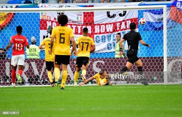 Toby Alderweireld defender of Belgium during the FIFA 2018 World Cup Russia Playoff for third place match between Belgium and England at the Saint...
