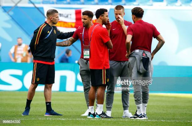 Toby Alderweireld defender of Belgium Moussa Dembele midfielder of Belgium during the FIFA 2018 World Cup Russia Playoff for third place match...