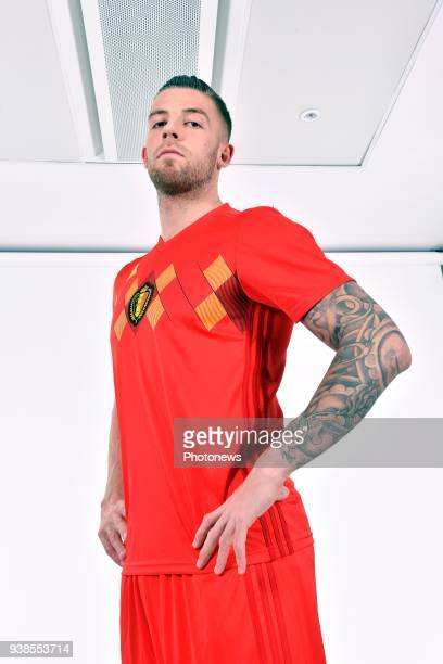 Toby Alderweireld defender of Belgium pictured during a photo session of the National Soccer Team of Belgium prior to the World Cup 2018 and part of...