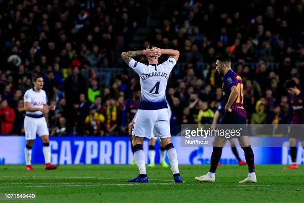 04 Toby Alderweireld from Belgium of Tottenham Hotspur during the UEFA Champions League Group B match between FC Barcelona and Tottenham Hotspur FC...