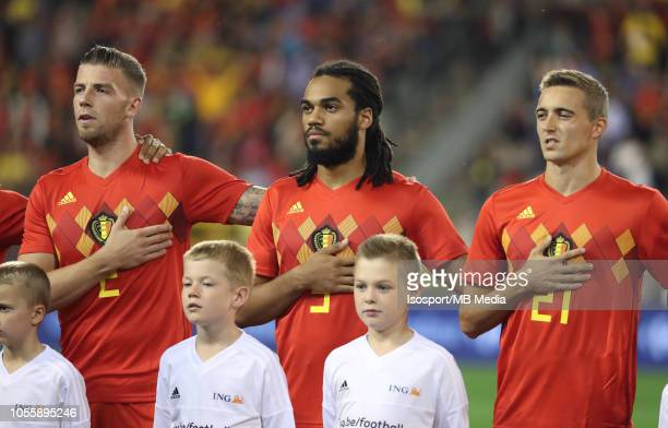 Toby Alderweireld Jason Denayer and Timothy Castagne pictured during the International Friendly match between Belgium and The Netherlands on October...