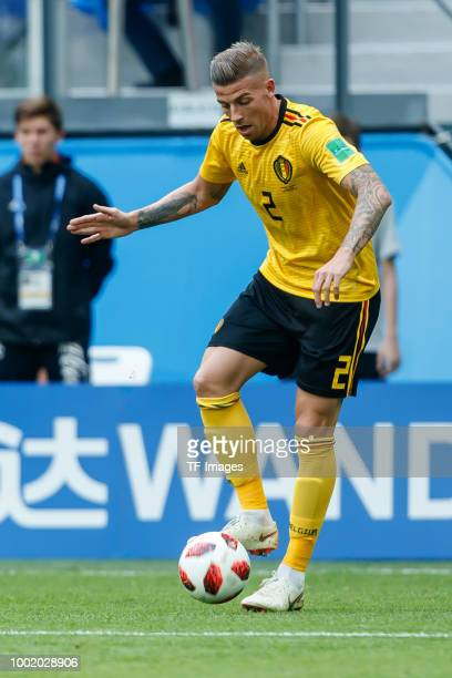 Toby Alderweireld of Belgium controls the ball during the 2018 FIFA World Cup Russia 3rd Place Playoff match between Belgium and England at Saint...