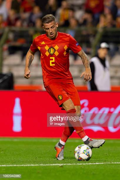 Toby Alderweireld of Belgium controls the ball during the UEFA Nations League A group two match between Belgium and Switzerland at Roi Baudouin...