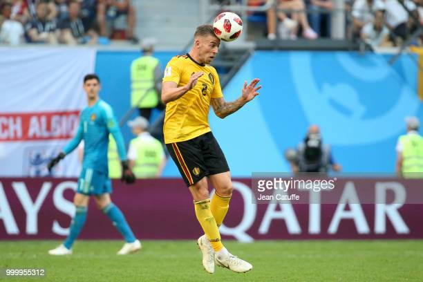 Toby Alderweireld of Belgium during the 2018 FIFA World Cup Russia 3rd Place Playoff match between Belgium and England at Saint Petersburg Stadium on...