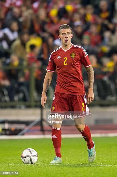 Toby Alderweireld of Belgium during the International friendly match between Belgium and Iceland on November 12 2014 at the Koning Boudewijn stadium...