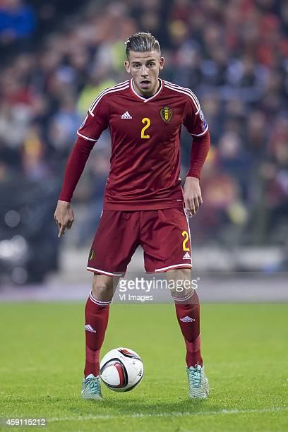 Toby Alderweireld of Belgium during the International friendly match between Belgium and Wales on November 16 2014 at the Koning Boudewijn stadium in...