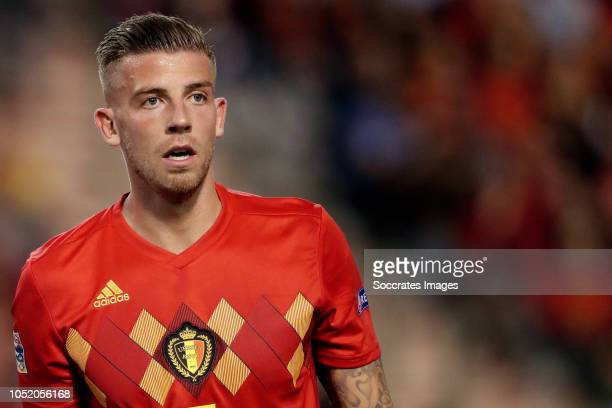 Toby Alderweireld of Belgium during the UEFA Nations league match between Belgium v Switzerland at the Koning Boudewijnstadion on October 12 2018 in...