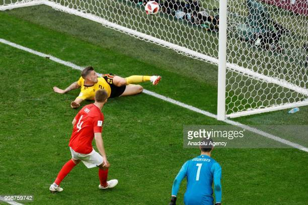 Toby Alderweireld of Belgium in action during the 2018 FIFA World Cup 3rd place match between Belgium and England at the Saint Petersburg Stadium in...
