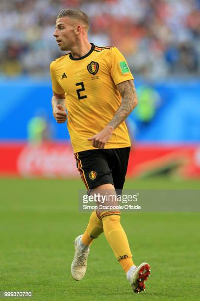 Toby Alderweireld of Belgium in action during the 2018 FIFA World Cup Russia 3rd Place Playoff match between Belgium and England at Saint Petersburg...