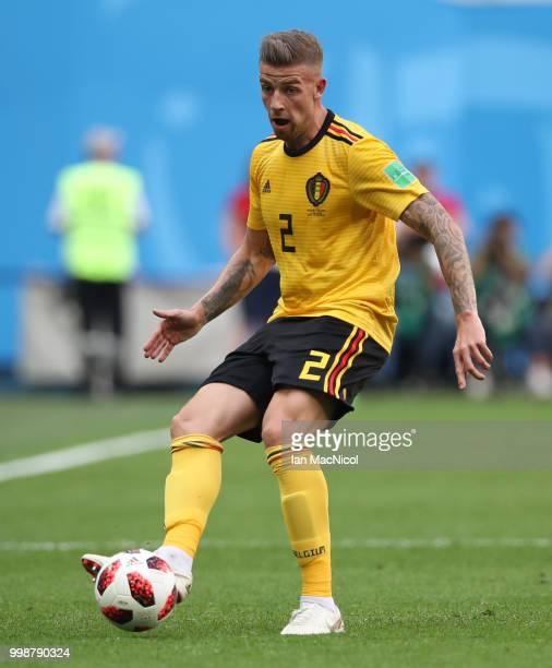Toby Alderweireld of Belgium is seen during the 2018 FIFA World Cup Russia 3rd Place Playoff match between Belgium and England at Saint Petersburg...