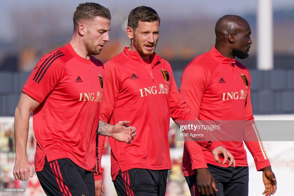Belgium Training & Press Conference : News Photo