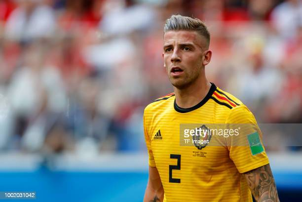 Toby Alderweireld of Belgium looks on during the 2018 FIFA World Cup Russia 3rd Place Playoff match between Belgium and England at Saint Petersburg...