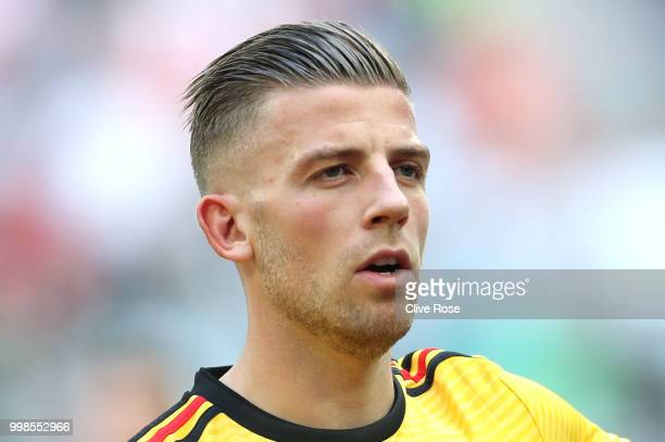 Toby Alderweireld of Belgium looks on prior to the 2018 FIFA World Cup Russia 3rd Place Playoff match between Belgium and England at Saint Petersburg...
