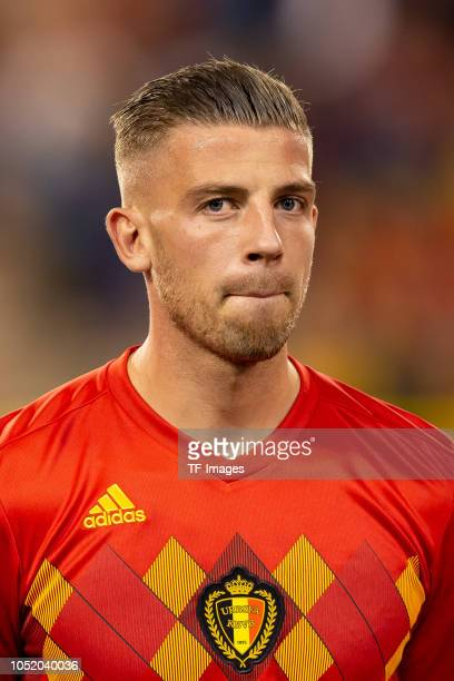 Toby Alderweireld of Belgium looks on prior to the UEFA Nations League A group two match between Belgium and Switzerland at Roi Baudouin Stadion on...