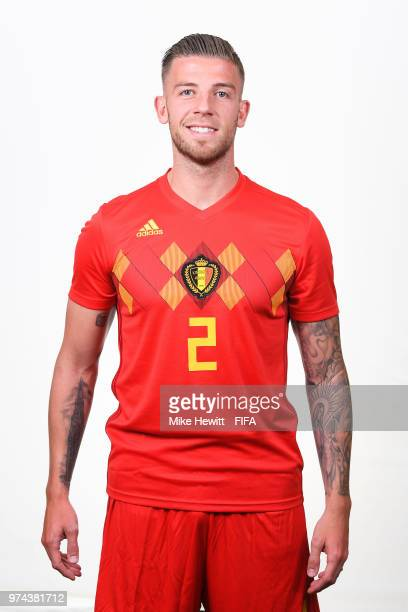 Toby Alderweireld of Belgium poses for a portrait during the official FIFA World Cup 2018 portrait session at the Moscow Country Club on June 14 2018...