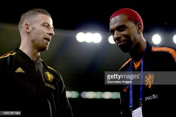 Toby Alderweireld of Belgium Ryan Babel of Holland during the International Friendly match between Belgium v Holland on October 16 2018