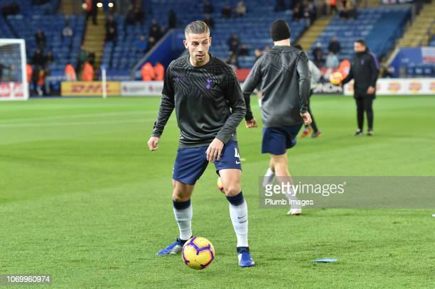 Toby Alderweireld of Tottenham Hotspur before the Premier League match between Leicester City and Tottenham Hotspur at The King Power Stadium on...