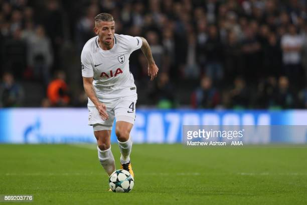 Toby Alderweireld of Tottenham Hotspur during the UEFA Champions League group H match between Tottenham Hotspur and Real Madrid at Wembley Stadium on...