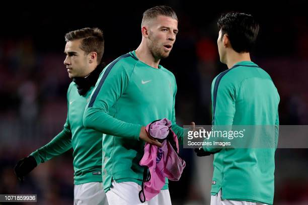 Toby Alderweireld of Tottenham Hotspur during the UEFA Champions League match between FC Barcelona v Tottenham Hotspur at the Camp Nou on December 11...