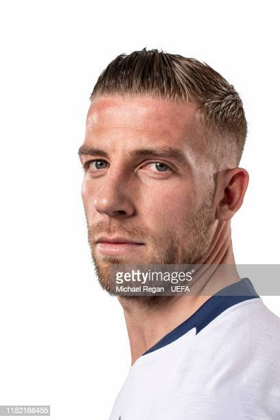 Toby Alderweireld of Tottenham Hotspur poses for a photo during the Tottenham Hotspur UEFA Champions League Final Preview Portrait Shoot at Enfield...