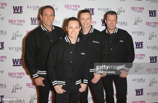 Toby Allen Michael Tierney Andrew Tierney and Phil Burton of the Australian vocal group Human Nature attend the premiere of Sex Tips for Straight...