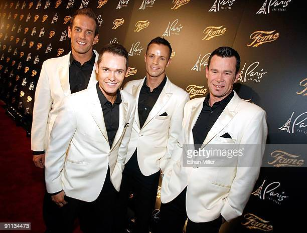 """Toby Allen, Michael Tierney, Andrew Tierney and Phil Burton of the Australian vocal group Human Nature arrive at a screening of """"Fame"""" at the Paris..."""