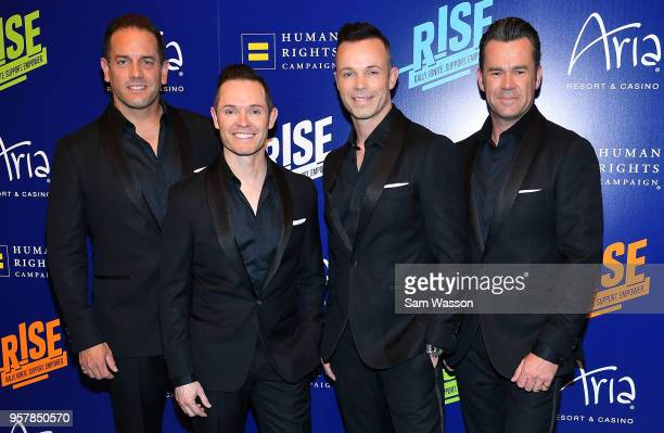 Toby Allen Michael Tierney Andrew Tierney and Phil Burton of the Australian vocal group Human Nature attend the Human Rights Campaign's 13th annual...
