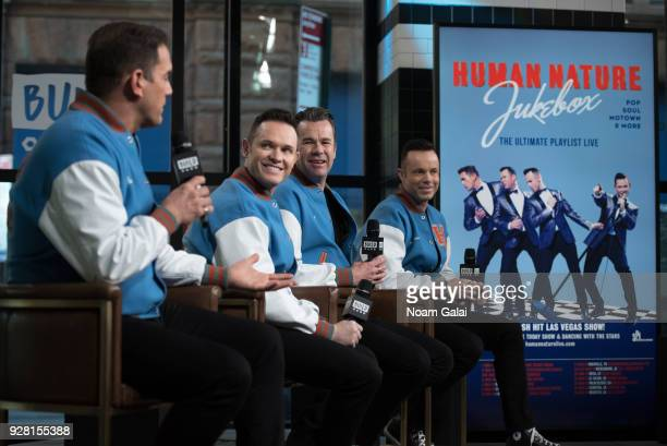 Toby Allen Michael Tierney Phil Burton and Andrew Tierney of Human Nature visit Build Series to discuss 'Human NatureJukebox In Concert at the...