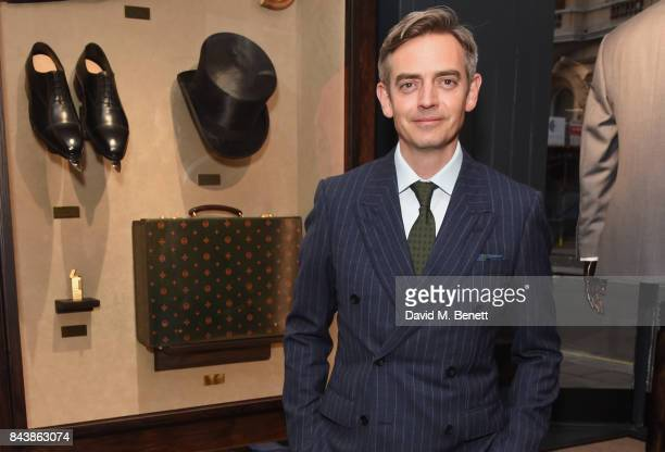 Toby Bateman attends the launch of the 'Kingsman' shop on St James's Street in partnership with MR PORTER MARV Twentieth Century Fox in celebration...